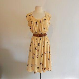 vintage 60s terry cloth tulip print floral dress